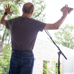 Dr. Rick Higgins Outdoor Worship at LifePark